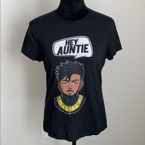 "SALE⭐️ Women's Black Panther ""Hey Auntie"" Top"